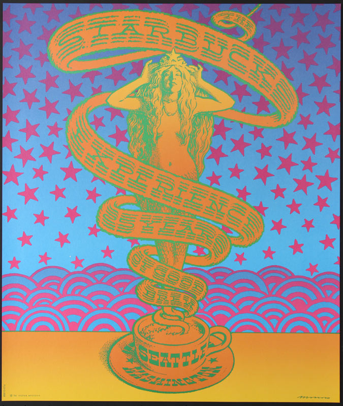 Victor Moscoso The Starbucks Experience - 25 Years of Good Brew Poster