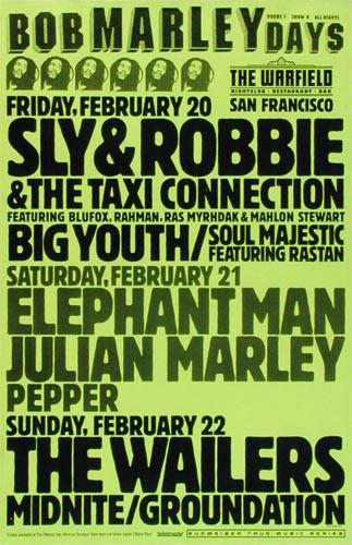 Bob Marley Days - Wailers Poster