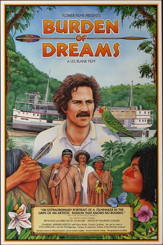 Monte Dolack Burden of Dreams 1982 Les Blank Movie Poster