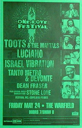 One Love Festival Poster