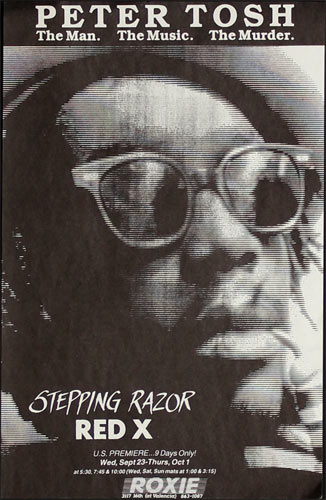 Stepping Razor: Red X - Peter Tosh Documentary Premiere Movie Poster