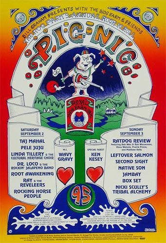 Hog Farm PigNic 1995 Ken Kesey Poster