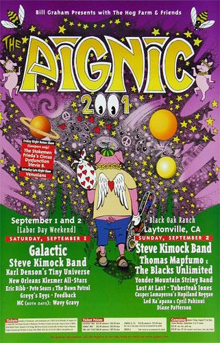 Bill Graham Presents Hog Farm PigNic 2001 Galactic Poster