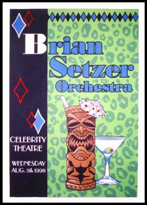 Rob Schwager Brian Setzer Orchestra Poster