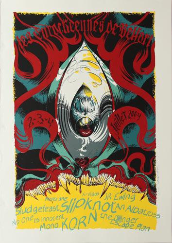 Bongout Slipknot and Korn Poster