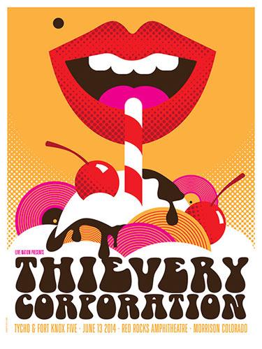 Dan Stiles Thievery Corporation Poster