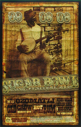 Ron Donovan Sugar Bowl Music Festival 2006 Old Crow Medicine Show Poster