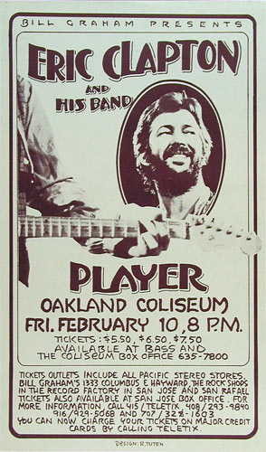 Randy Tuten Eric Clapton and his Band Poster