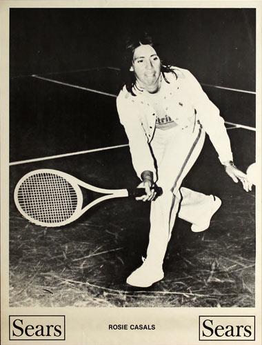 Rosie Casals Sears Tennis Promo Poster