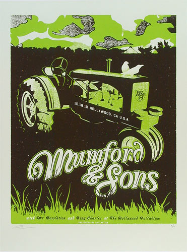 Andrew Vastagh Mumford and Sons Poster