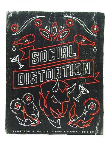 Andrew Vastagh Social Distortion Poster