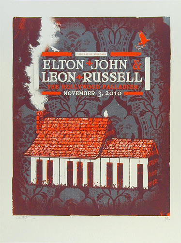 Andrew Vastagh Elton John and Leon Russell Poster