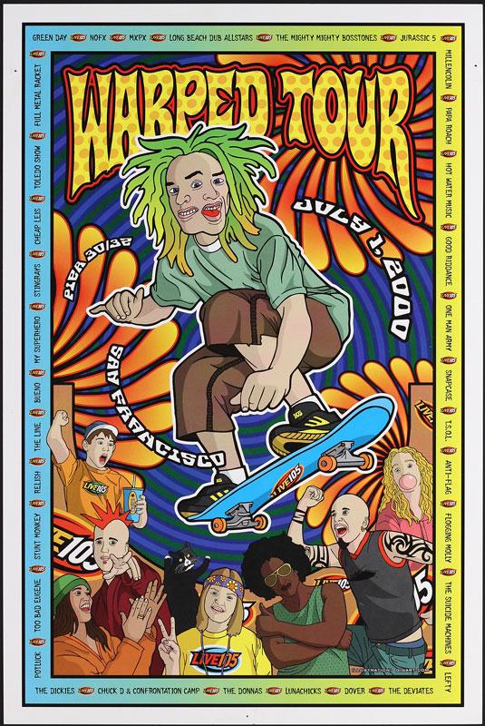 Gregg Gordon (GigArt) Warped Tour 2000 Poster