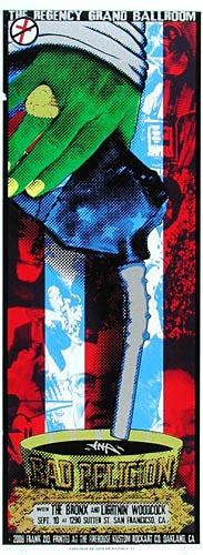 Frank Zio Bad Religion Poster