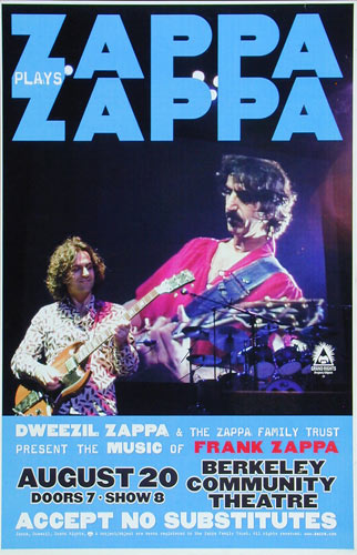 Zappa Plays Zappa: Dweezil Zappa Poster