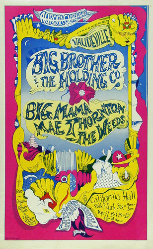 Michael Wood Big Brother And The Holding Company Poster
