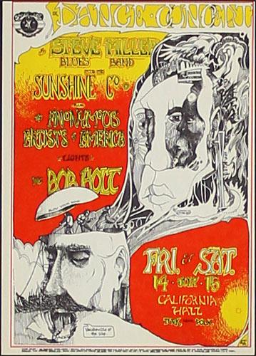 Greg Irons Space Ace Presents Steve Miller Blues Band Handbill