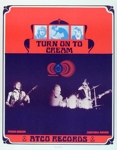 Bob Masse Cream - Rare Early Atco Records Promo Poster