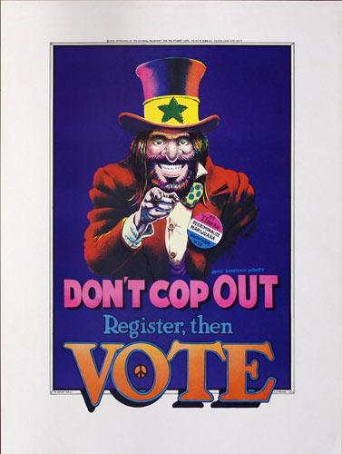 Dave Sheridan Dealer McDope - Don't Cop Out - Register Then Vote Poster