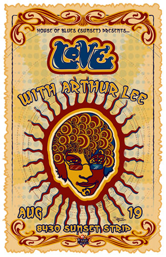 Darren Grealish Love with Arthur Lee Poster