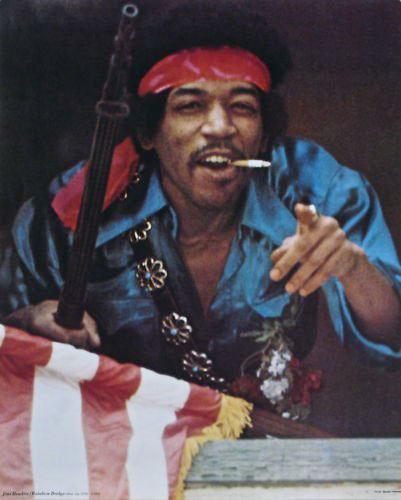 Jimi Hendrix Rainbow Bridge Poster