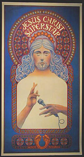 David Byrd Jesus Christ Superstar Decca Records Promo Poster