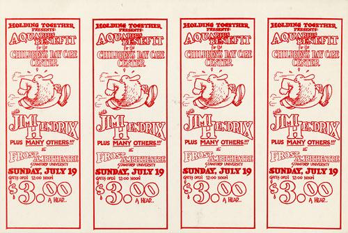 Robert Crumb Jimi Hendrix Ticket