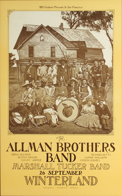 David Singer The Allman Brothers Band Poster