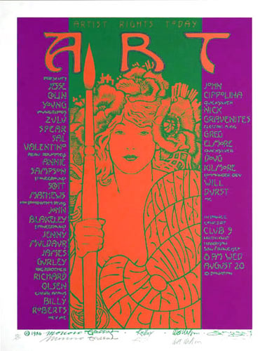 Mouse, Kelley, Moscoso, Griffin, Wilson Artist Rights Today Poster - signed