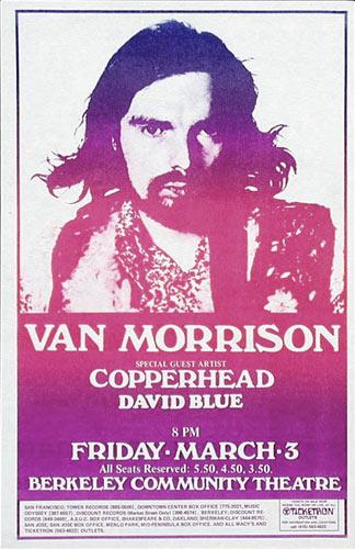 Van Morrison Berkeley Handbill