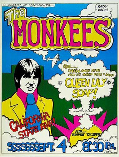 The Monkees Sacramento Concert Poster