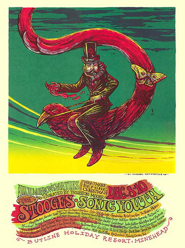 Michael Michael Motorcycle Sonic Youth - The Stooges - All Tomorrow's Parties Festival Poster