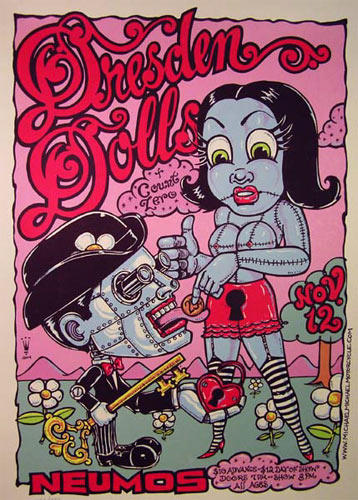 Michael Michael Motorcycle Dresden Dolls (Amanda Palmer) Poster