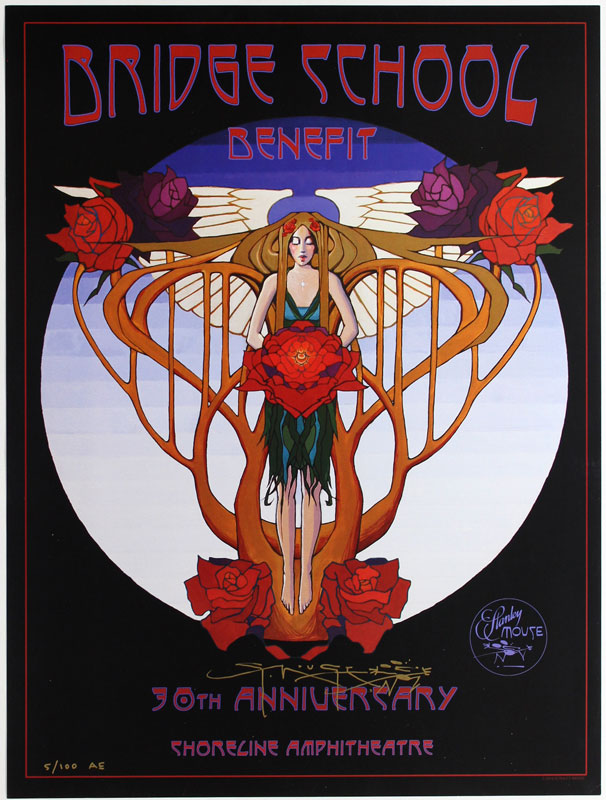 Stanley Mouse Bridge School Benefit 30th Anniversary 2016 Poster