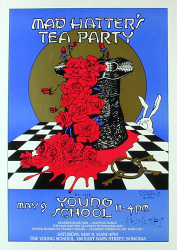 Stanley Mouse Mad Hatter's Tea Party Poster - signed