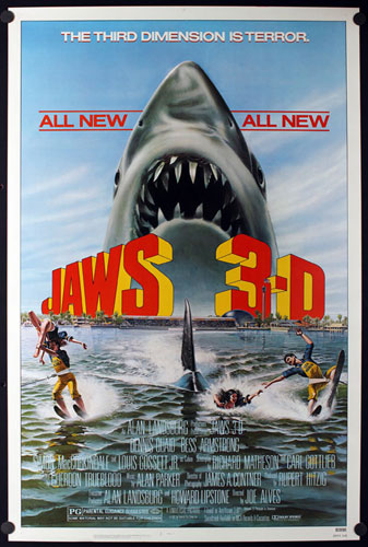 Jaws 3-D 3D Movie Poster