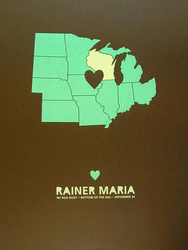 Jason Munn - The Small Stakes Rainer Maria Poster