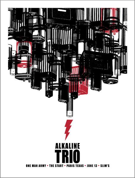 Jason Munn - The Small Stakes Alkaline Trio Poster