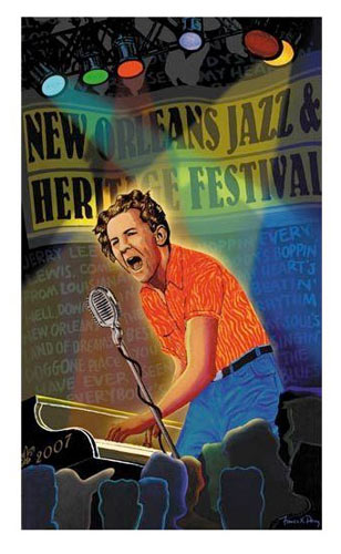 Francis Pavy New Orleans Jazz and Heritage Festival 2007 Poster
