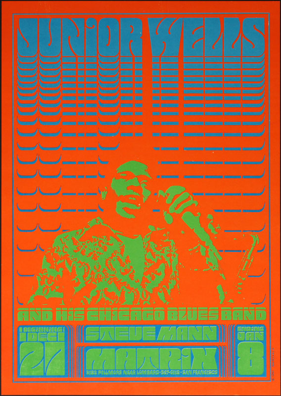 Victor Moscoso NR # 1-2 Neon Rose Junior Wells NR1 Poster