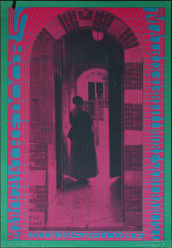 Victor Moscoso NR # 10-1 The Doors Neon Rose NR10 Poster