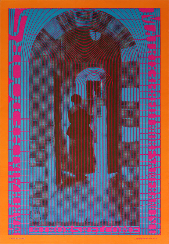 Victor Moscoso NR # 10-2 The Doors Neon Rose NR10 Poster