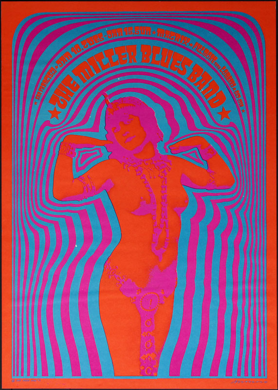 Victor Moscoso NR # 2-3 The Miller Blues Band Neon Rose NR2 Poster