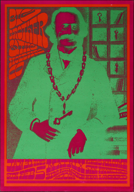 Victor Moscoso NR # 4-2 Big Brother and the Holding Company Neon Rose NR4 Poster
