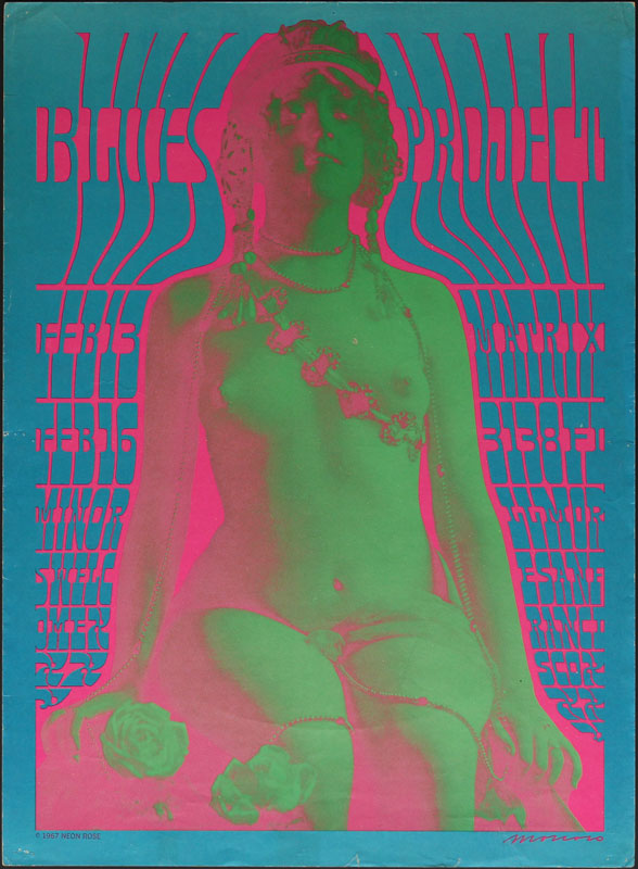 Victor Moscoso NR # 6-1 Blues Project Neon Rose NR6 Poster