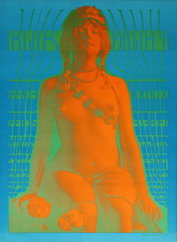 Victor Moscoso NR # 6-2 Blues Project Neon Rose NR6 Poster
