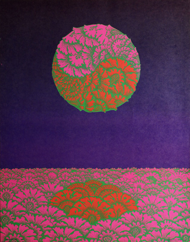Victor Moscoso Neiman Marcus  Neon Rose #21 (#B-2) Poster