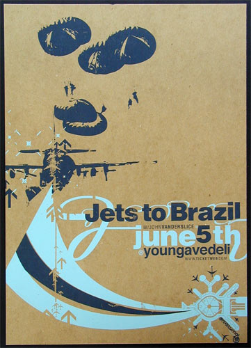 Nocturnal Showprint Jets To Brazil Young Avenue Deli, Memphis, TN Poster