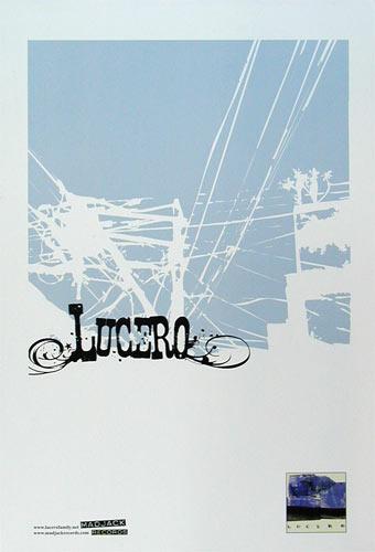 Nocturnal Showprint Lucero 2001 Promo Poster