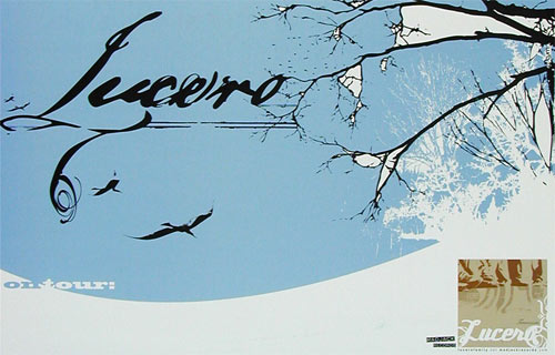 Nocturnal Showprint Lucero 2002 Tour Poster
